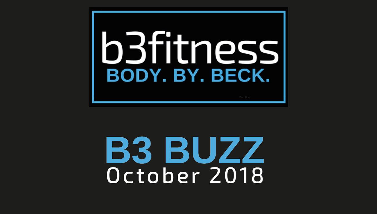 B3 Fitness October Newsletter